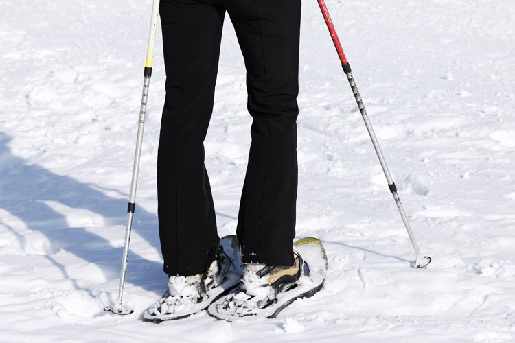 woman snowshoeing