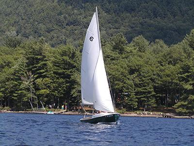 sailboat on sacandaga