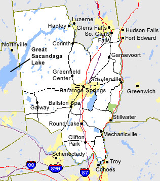 cities and towns within saratoga county ny