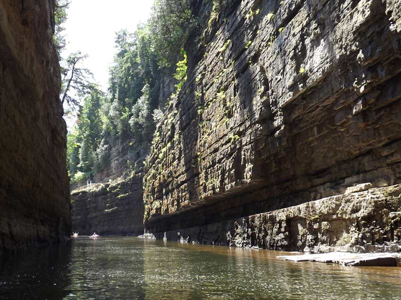 Ausable Chasm, a gorge in the Adirondacks