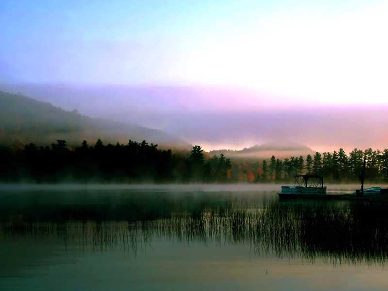 Fog over Big Moose Lake in the Adirondacks
