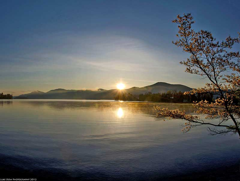 Sunrise on Lake George in Bolton Landing