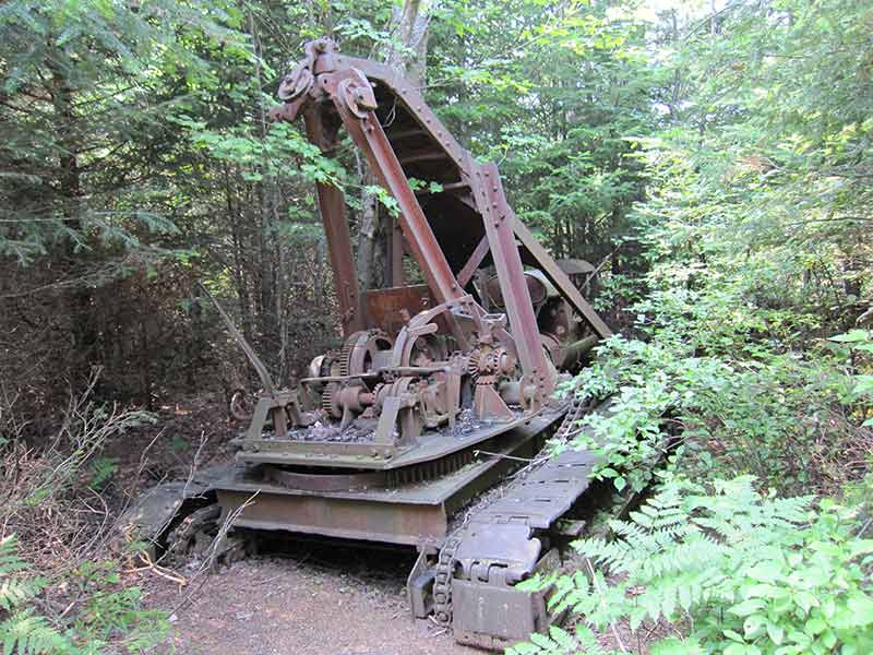 Abandoned logging equipment near High Falls in Fine, NY