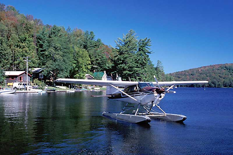 Seaplane on the Fulton Chain of Lakes in Inlet NY