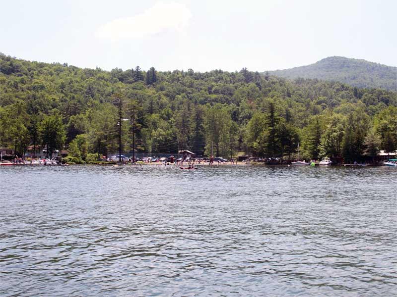 Huletts Landing on Lake George near Clemons NY