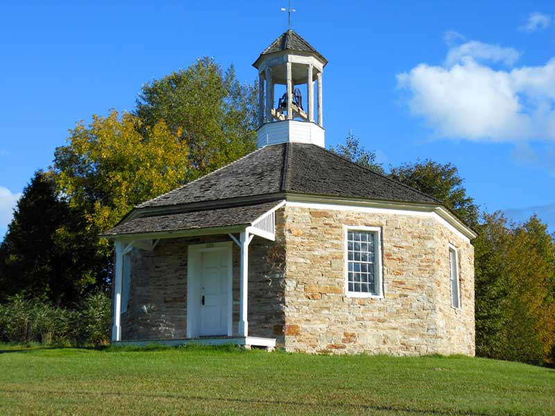Octagonal School House in Essex NY