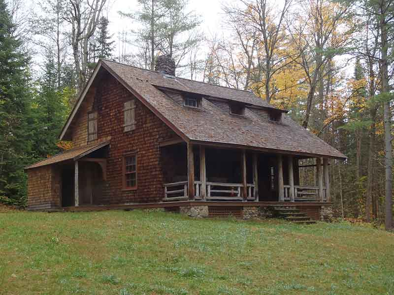 A building on the Great Camp Santanoni Preserve in Newcomb NY