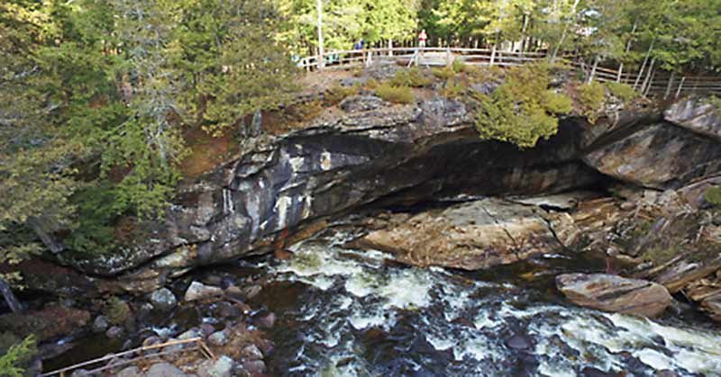 Cave entrance at Natural Stone Bridge and Caves in Pottersville NY