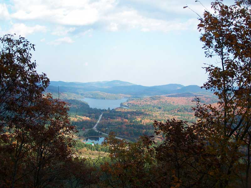 Paradox Lake as seen from a hiking path in Severance NY
