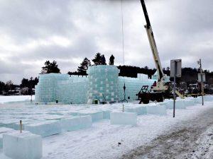Saranac Lake Ice Palace Construction