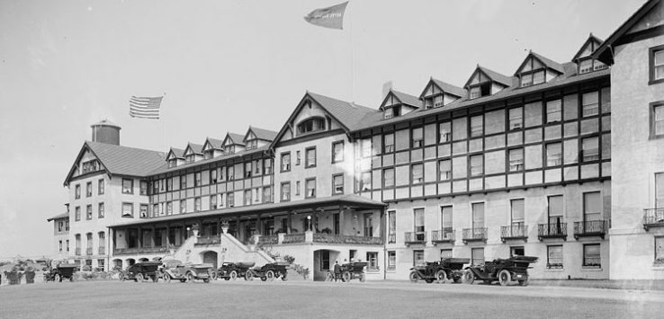 front of historic hotel champlain