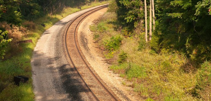 a long winding railroad