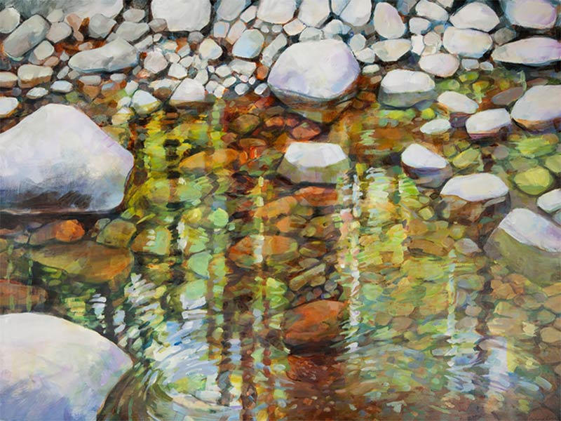 "Painting of ""Reflections"" by Catherine Hartung"