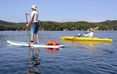 stand up paddle and kayak