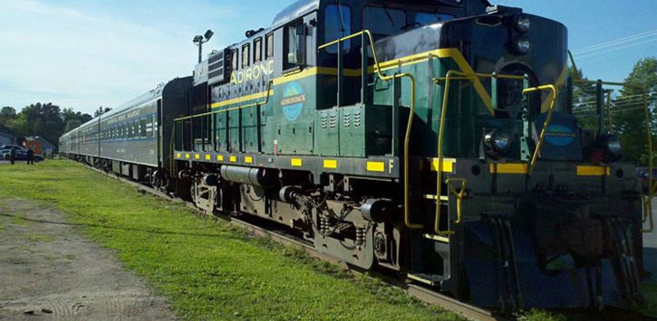 adirondack scenic railroad train
