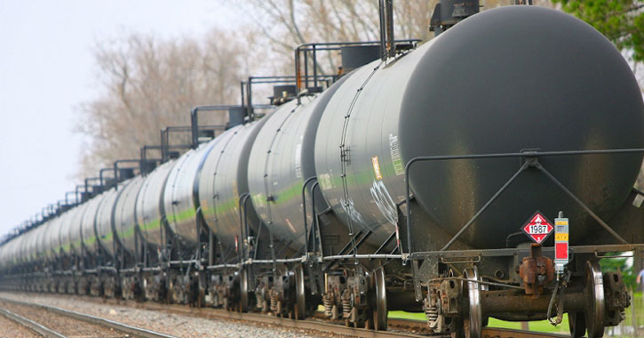 Local Railway S First Line Of Tank Cars Has Been Stored In