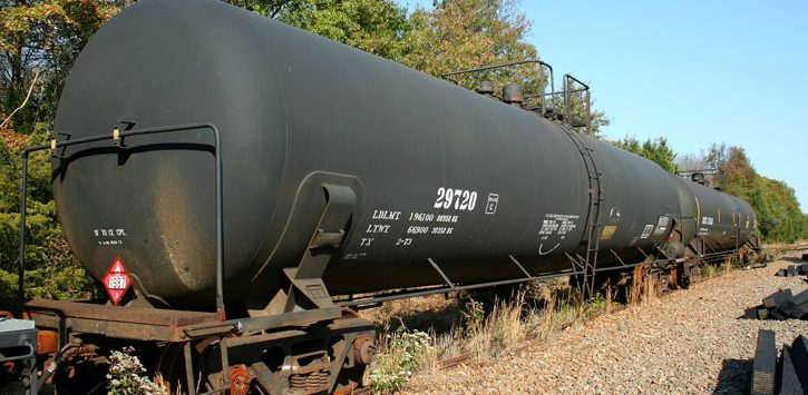 an old tank car in the woods