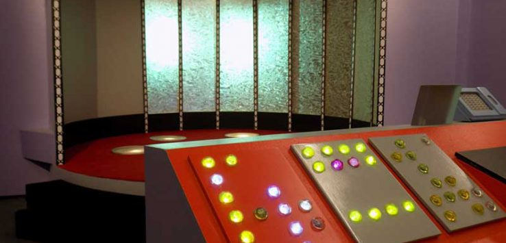 Replica set of the Transporter Deck from Star Trek: The Original Series