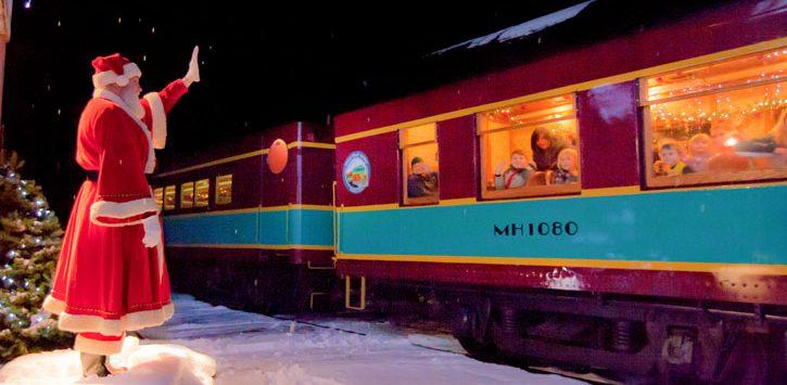 santa at polar express