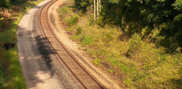 curve in a railroad