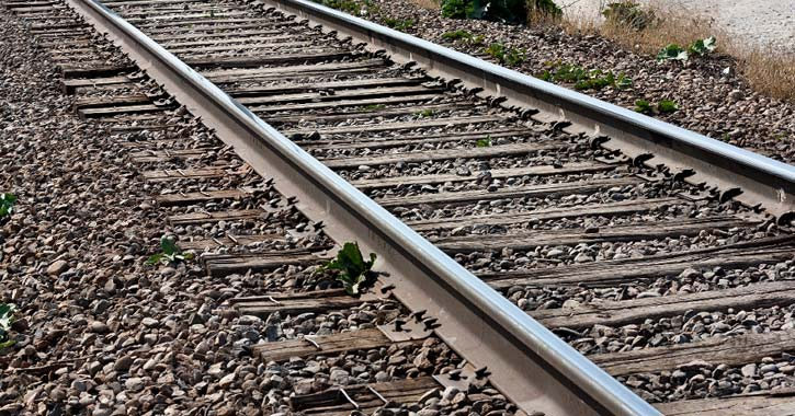 close up view of railroad tracks