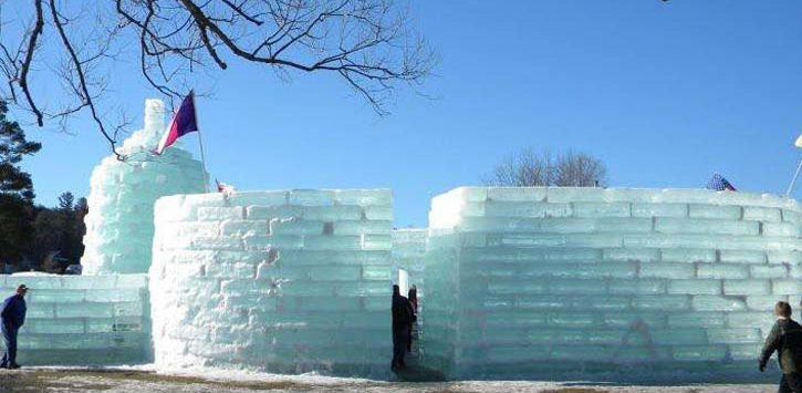 a large ice palace