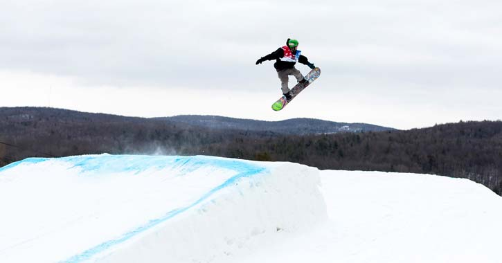 snowboarder in the air