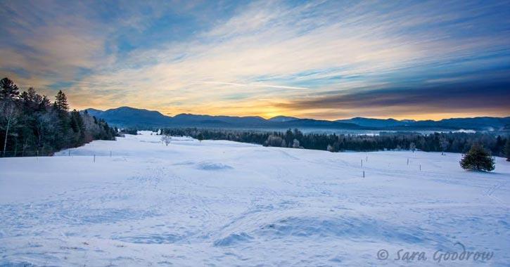 snowy landscape in lake placid