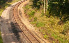 a curve in a railroad