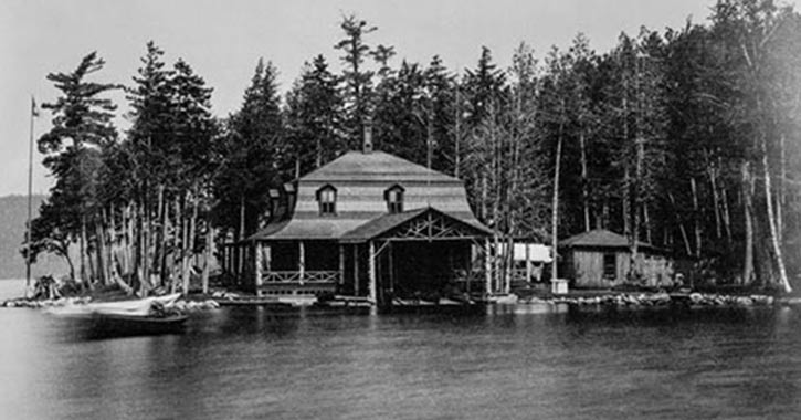 an early black and white photo of the duryea camp