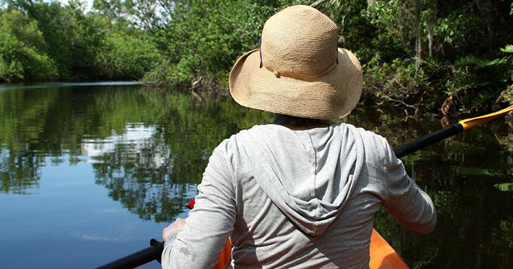 scenic kayak on river