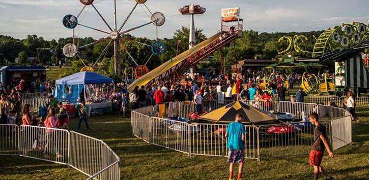 kids at a carnival