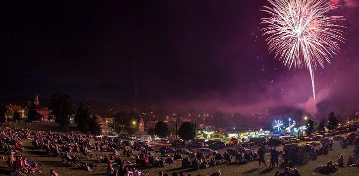Ticonderoga Fireworks Show