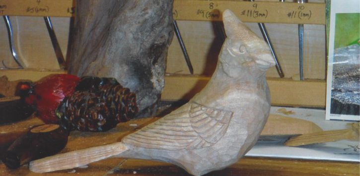 wood carved bird