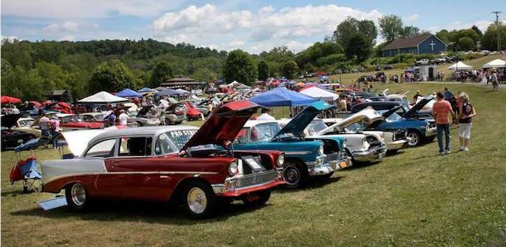 car show in Ticonderoga