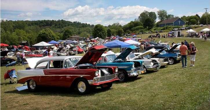 car show in Ticonderoga