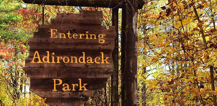 adirondack park welcome sign