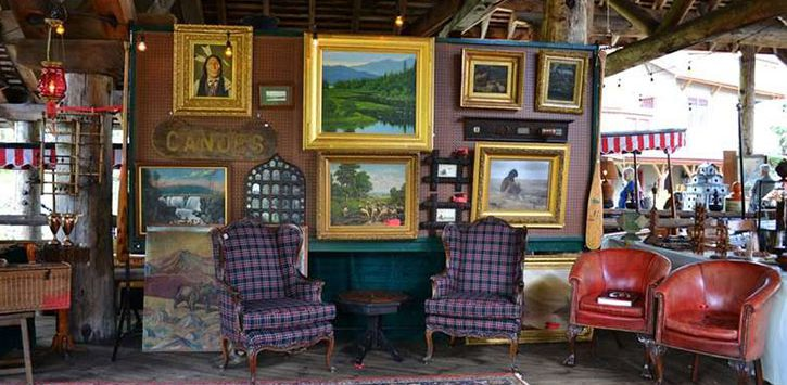 antiques on display in room