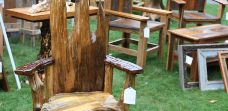 rustic furniture outdoors