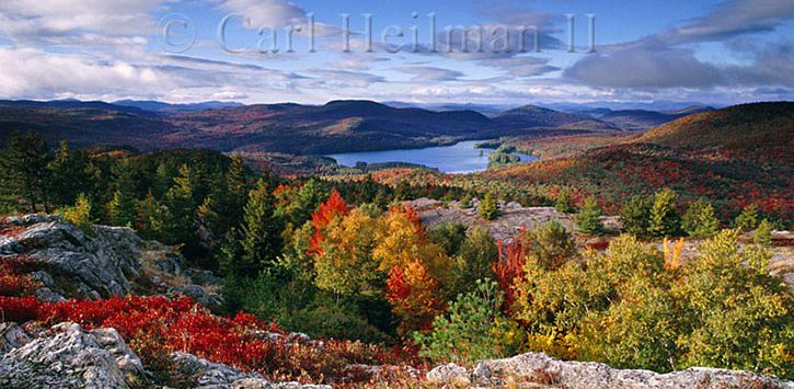 colorful fall foliage at mountains