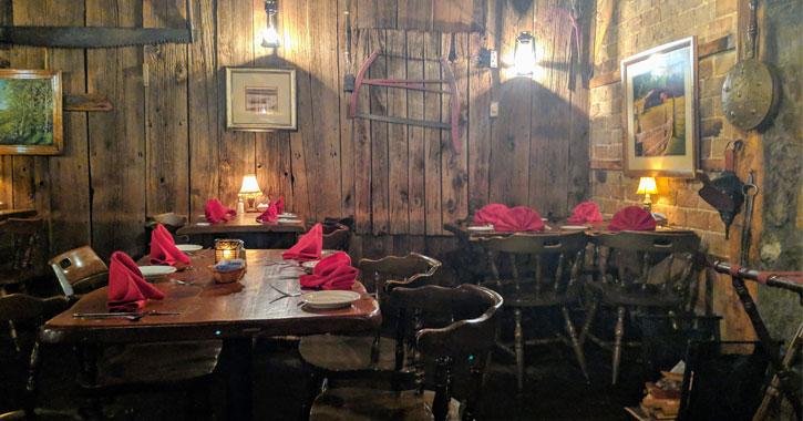 inside a cozy restaurant/bar
