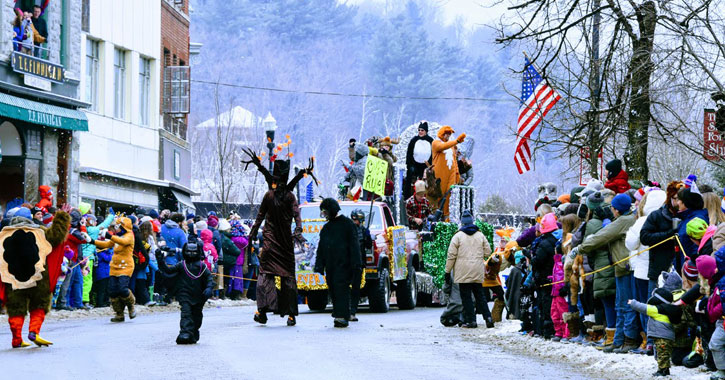 parade at winter carnival