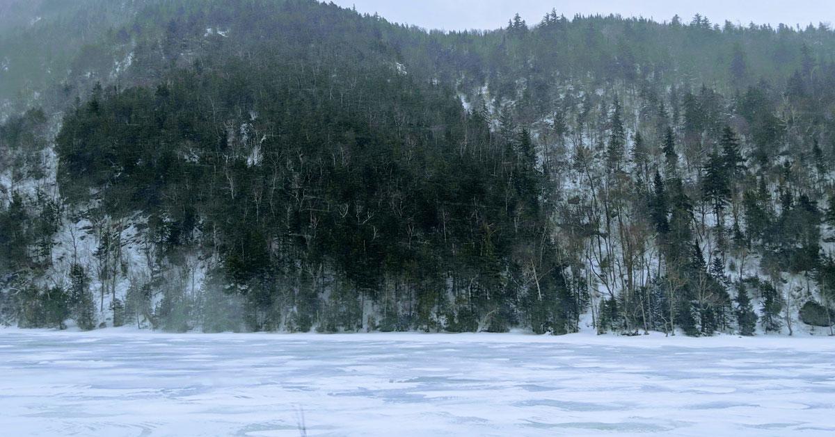 Adirondack winter landscape