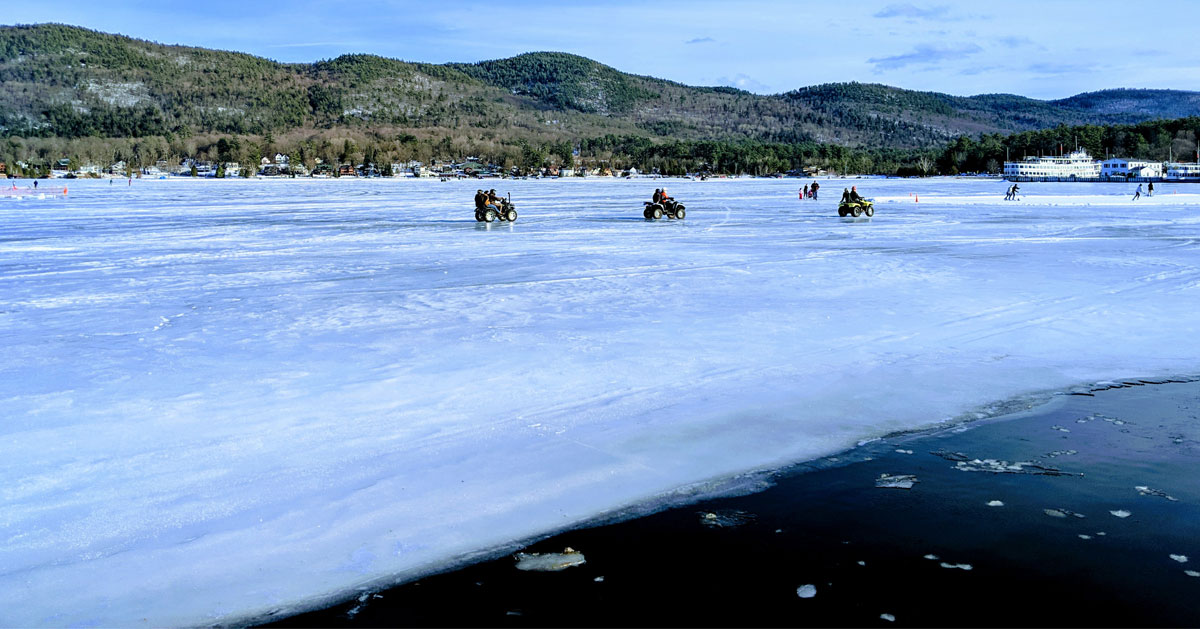 ATVs on ice