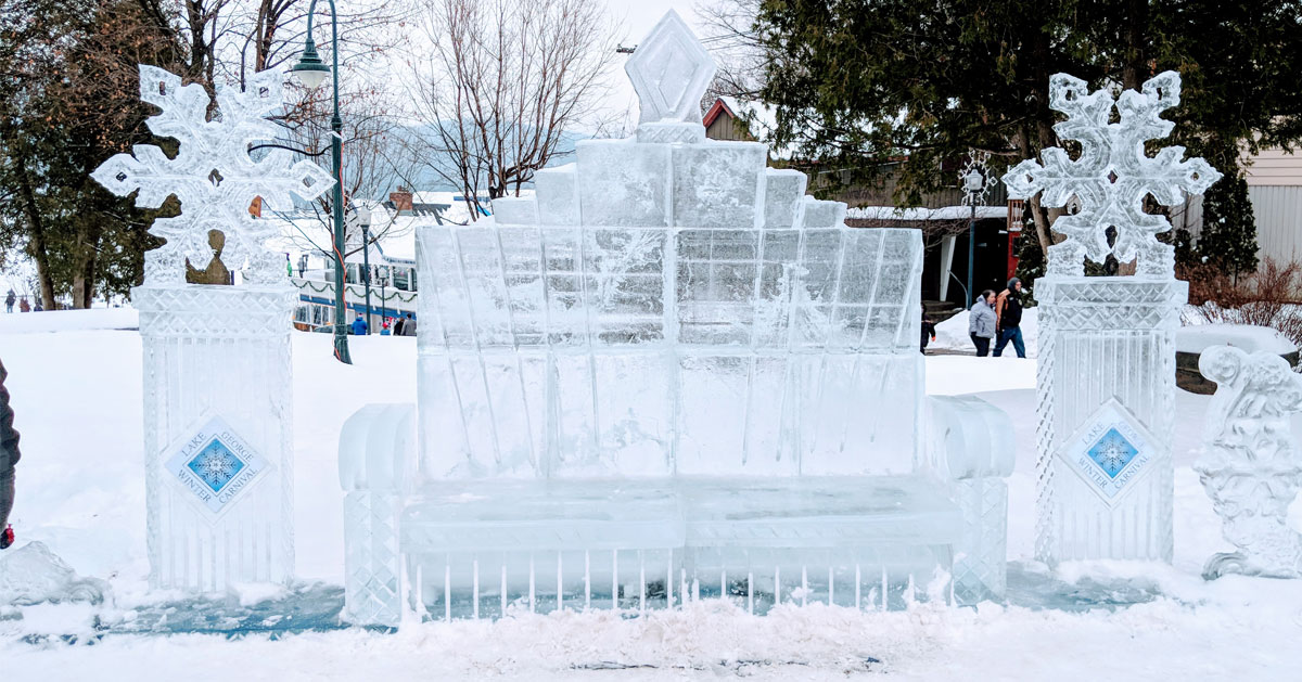 an ice bench