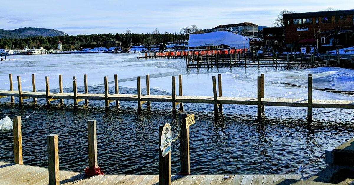ice near a dock