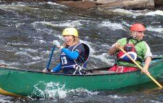 two canoers