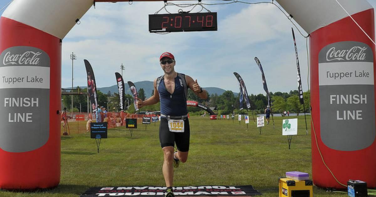 runner finishing