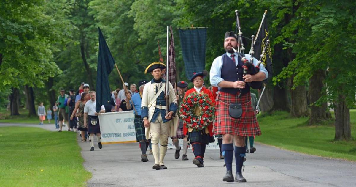 Scots parade