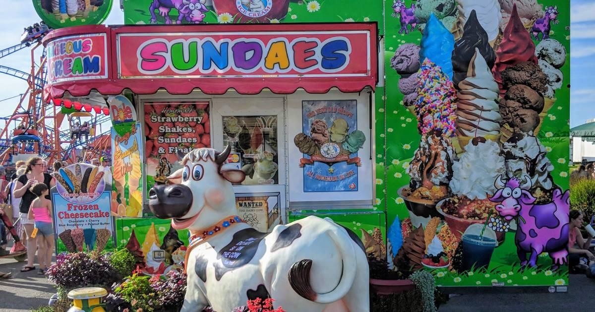 ice cream stand at fair